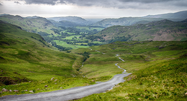 Road down to Eskdale.
