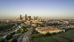 Downtown Houston Skyline, West, Buffalo Bayou No. 2