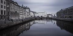 Kanal och Kämpebron i Göteborg