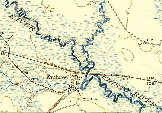 Orangeburg, SC, 1:62,500 quad, 1921, USGS