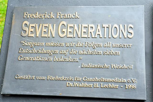 """September 2020 ... """"SIEBEN GENERATIONEN"""" von Frederick Franck ... Brigitte Stolle"""