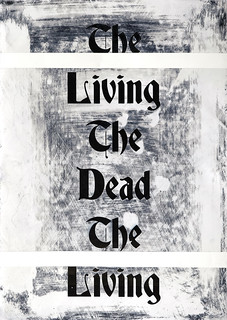 Zavier Ellis 'The Living & The Dead (Repeat) I', 2020 Acrylic on digital gloss print 42x29.7cm