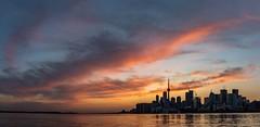 Toronto sunset.