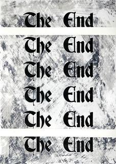 Zavier Ellis 'The End (Repeat) II', 2020 Acrylic on digital gloss print 42x29.7cm