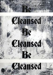 Zavier Ellis 'Be Cleansed (Repeat) II', 2020 Acrylic on digital gloss print 42x29.7cm