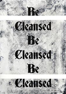 Zavier Ellis 'Be Cleansed (Repeat) I', 2020 Acrylic on digital gloss print 42x29.7cm