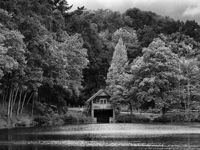 Rustic boathouse