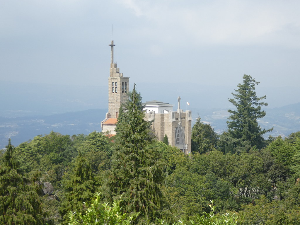 View of the Penha HIll Sanctuary, Guimaraes