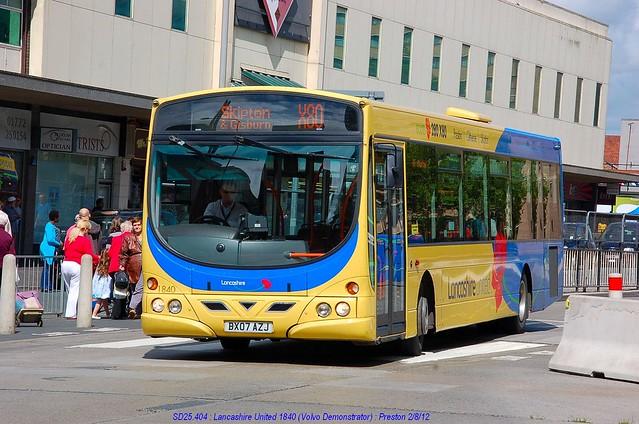 Transdev Lancashire United 1840 120802 Preston*