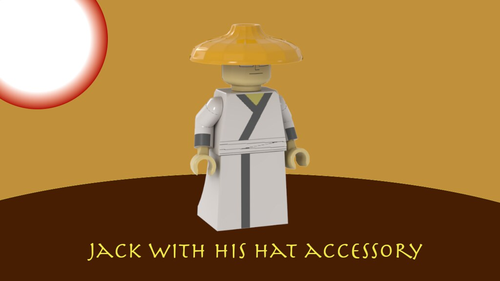 Samurai Jack Minifigure With Hat