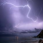 22. September 2020 - 21:30 - Orage du 22 septembre 2020 St-Barthelemy - Shell Beach