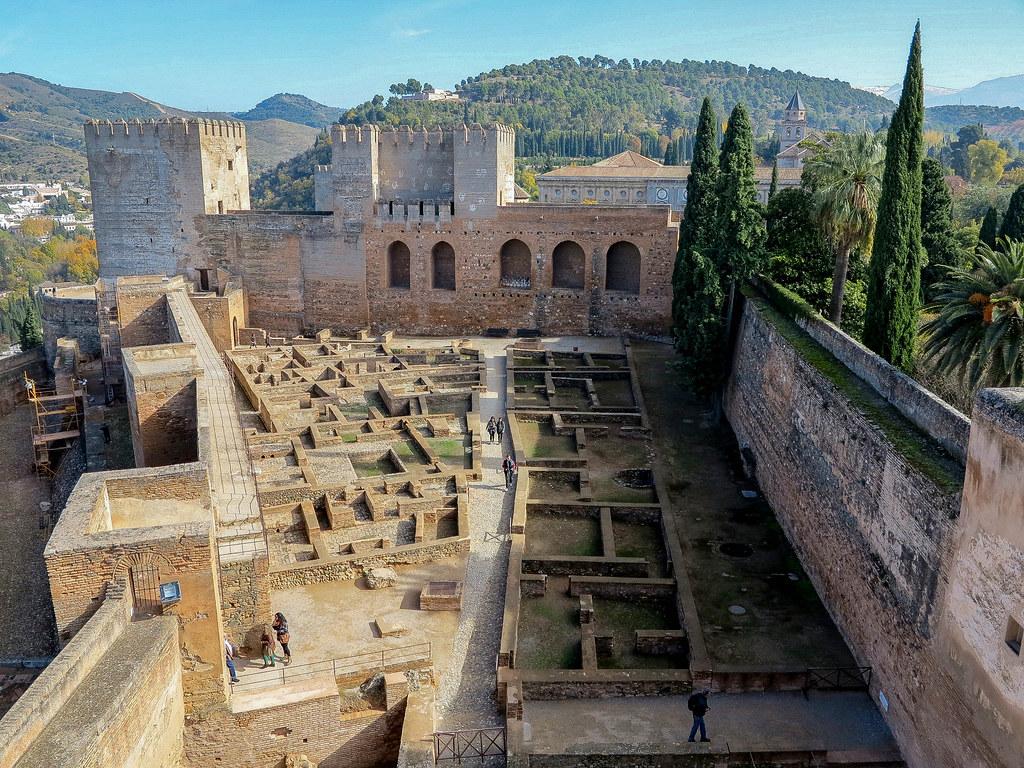 La Alcazaba en La Alhambra