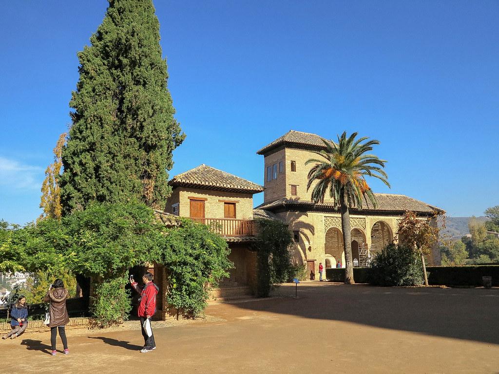 Exterior del Palacio El Partal en La Alhambra
