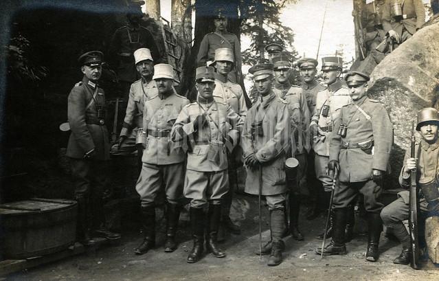Deutsche und schwedisch Offiziere