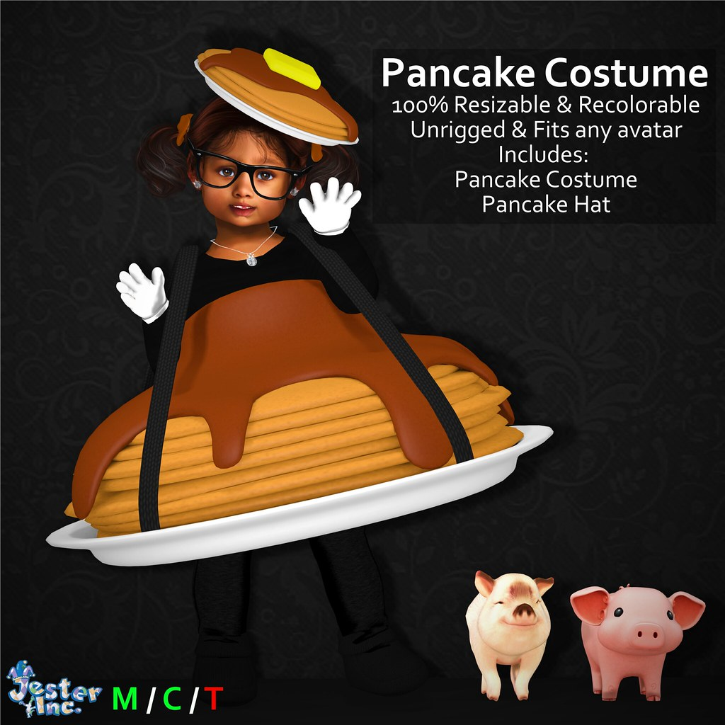 Presenting the new Pancake Costume from Jester Inc.