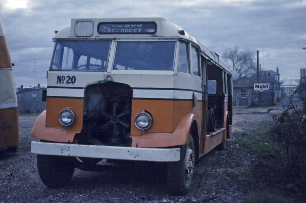 AEC Rl III 6821A (150) 1971-07-18 CCOS as Hunter Valley Coaches (MO4633) derelict East Maitland - Ian Lynas
