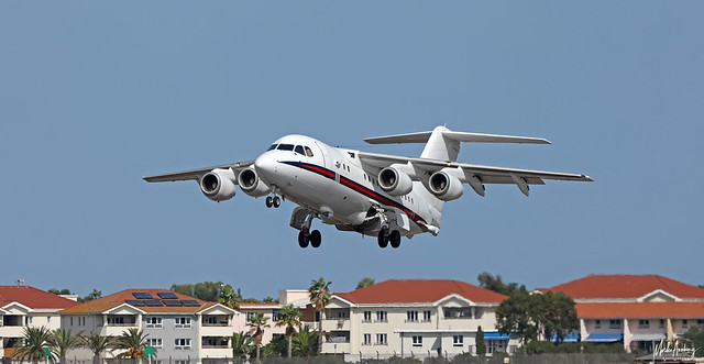 Royal Air Force BAe 146-100 Statesman ZE701 at RAF Gibraltar/LXGB