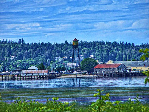 whatcom county wa washington northwest view hwy 5 interstate onasill nrhp rusty old water tower hdr vintage photo bellingham canadian border sky cloud