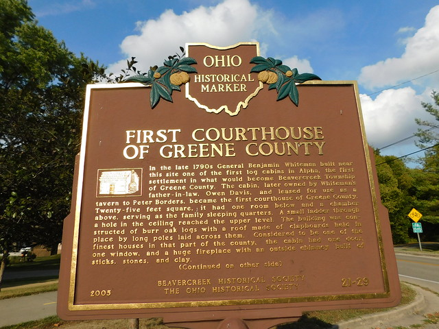 First Courthouse of Greene County Historic Mar