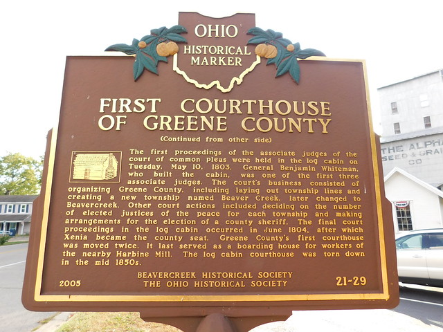 First Courthouse of Greene County Historic Marker
