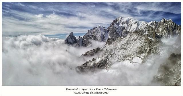 Panorámica alpina desde Punta Helbronner. Chamonix-Mont Blanc / Alpine panorama from Pointe Helbronner. Chamonix-Mont Blanc. France