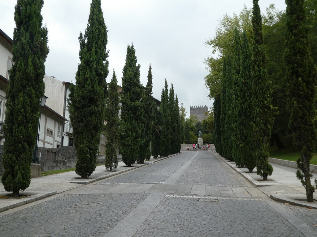 The avenue leading to Guimaraes Castle