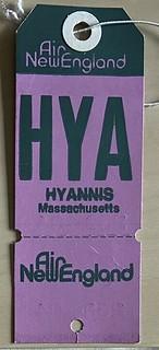Air New England - HYA Hyannis MA