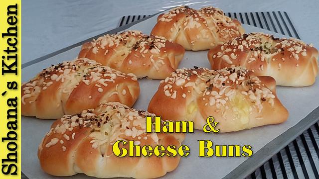 Ham & Cheese Buns / Easy Breakfast - Dinner Recipe / Shobanas Kitchen