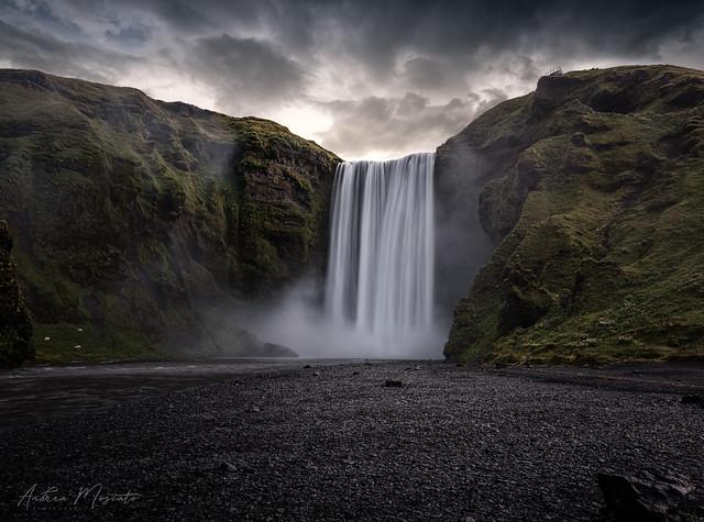 Skógafoss Waterfall Sunrise (Iceland)
