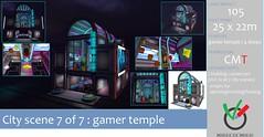 MAke a MArk Japanese City Scene 7 - 7: Gamer temple