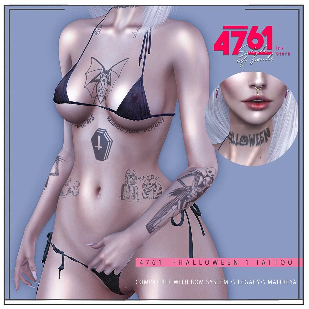 4761 – Halloween 1  Tattoo