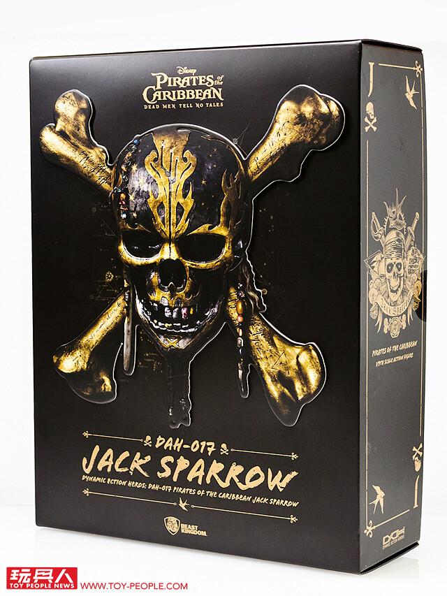 野獸國 D.A.H.系列《神鬼奇航》傑克·史派羅 開箱報告!再現多層次的細緻造型