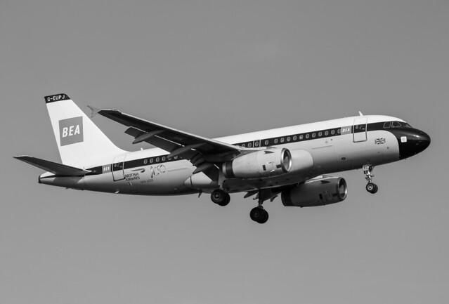 G-EUPJ Airbus A319-131 British Airways - BEA Retro Livery
