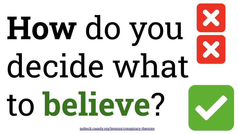 How do you decide what to BELIEVE?