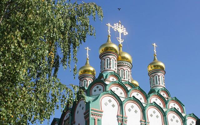 Russian Federation, Holy Moscow Architecture, the Church of Saint Nicholas of Myra (Lycia) in Khamovniki Sloboda, Lev Tolstoy Street / Komsomolsky Avenue, Khamovniki district. Православнаѧ Црковь.