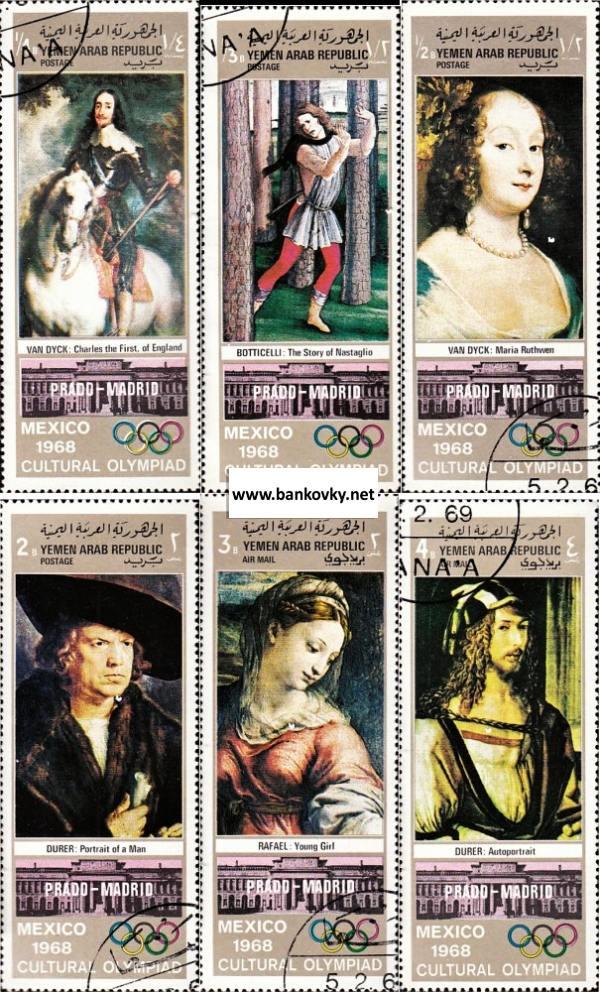 Známky Jemen (YAR) 1969 Maľby v Prado raz. séria
