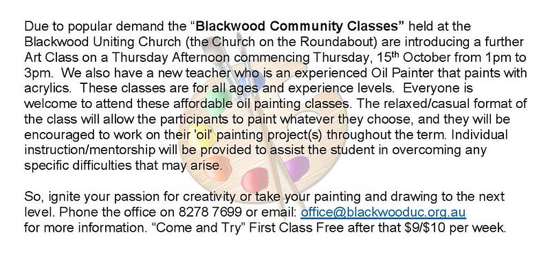 Art Class at Blackwood Community Classes