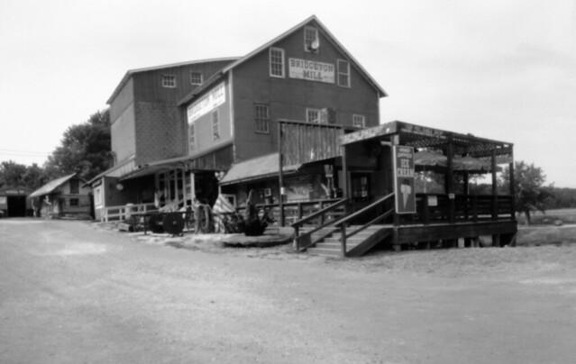 Bridgeton Mill, Indiana, pinhole photo.