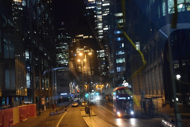 DSC_6879 Bus Route #135 City of London Bishopsgate at Night Time