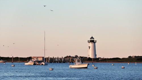 usa massachusetts island sea boats relax