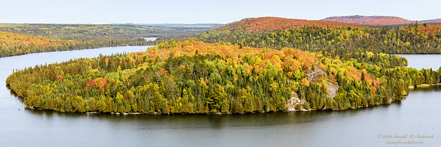 Fall View from the Caribou Lake Overlook near Lutsen MN