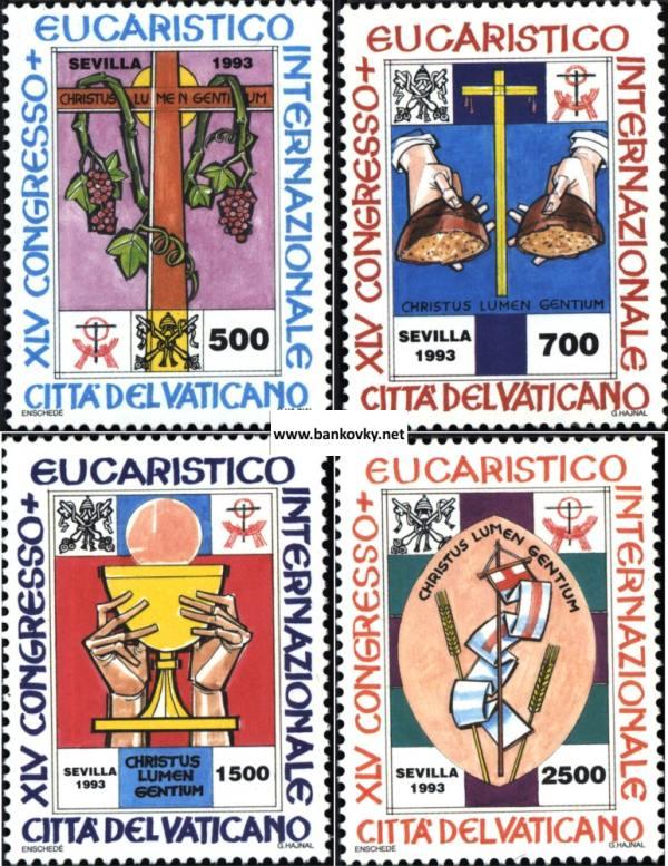 Známky Vatikán 1993 Eucharistický kongres séria MNH
