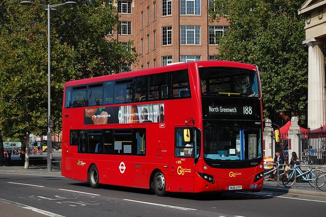 London Central MHV7, BU16OYP on 188 - Waterloo Station