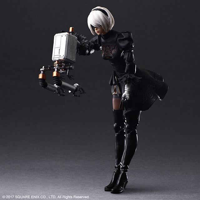 PLAY ARTS改《尼爾:自動人形》2B 可動人偶 一般版、DX版明年 04 月登場!