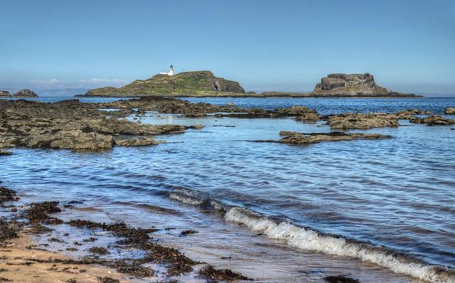 The coast at Yellowcraig, East Lothian