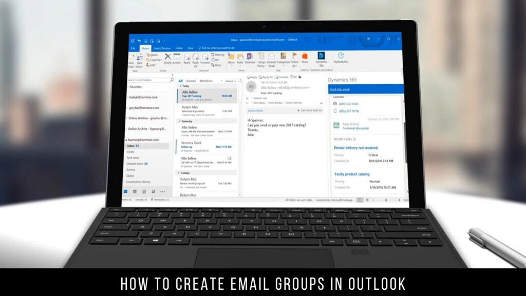 How to Create Email Groups in Outlook