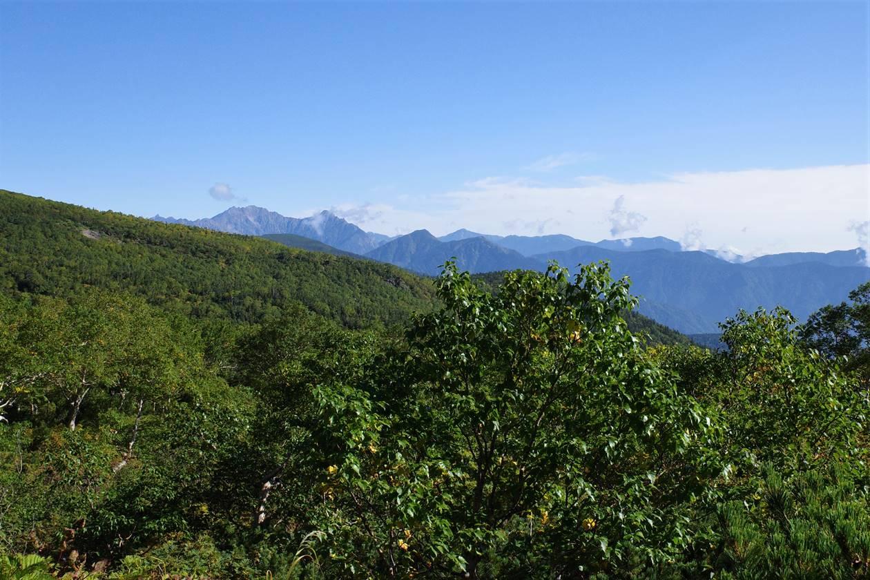 乗鞍岳から眺める穂高連峰