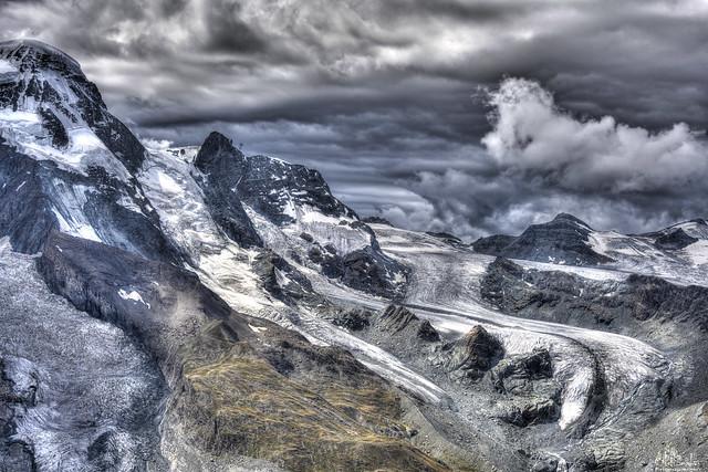 Theodul glacier view from Gornergrat - Zermatt - Wallis - Switzerland