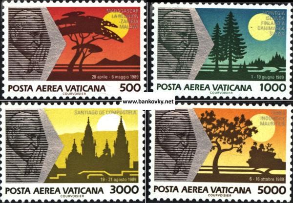 Známky Vatikán 1990 Pápežove cesty