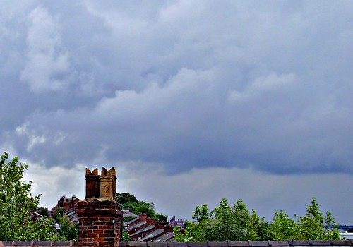 Rain clouds over Preston rooftops | by Tony Worrall